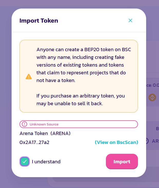 arena token