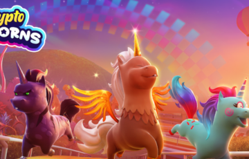 crypto unicorns logo artwork