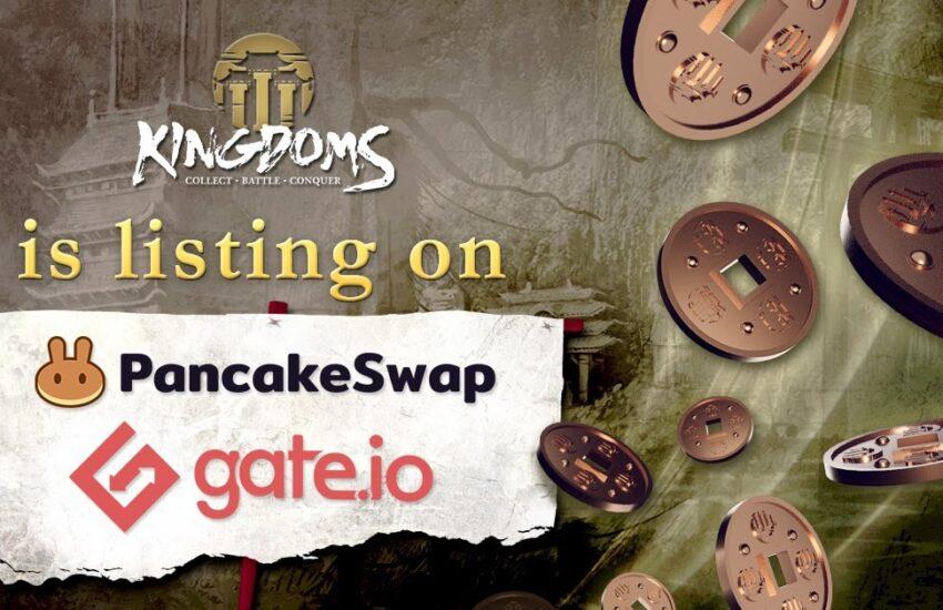 Listado de tokens en PancakeSwap y Gate.io